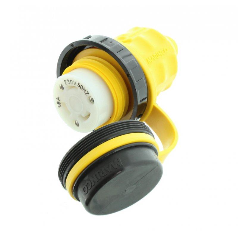 marinco stecker kupplung 230 v 16 a f r landanschluss nema. Black Bedroom Furniture Sets. Home Design Ideas