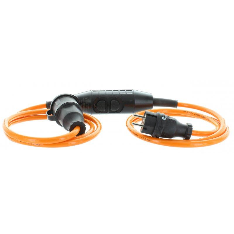 Personenschutzschalter PRCD-S Kabel 3 m nach BGI 608 Schutzkontaktstecker/-kupplung Vollgummi