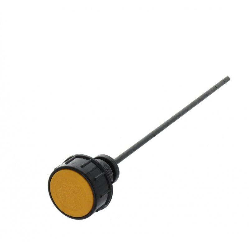 Verschlussdeckel gelb mit Ölpeilstab für Lumag Holzspalter