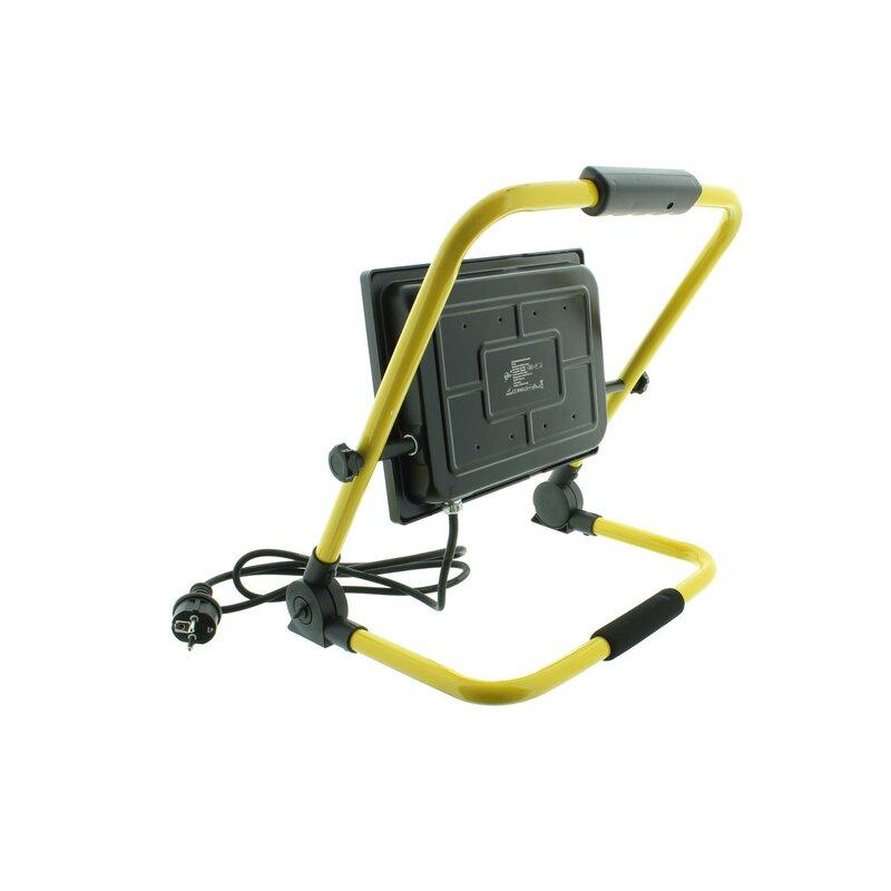 led strahler mit handgestell baustrahler 50 watt 39 84. Black Bedroom Furniture Sets. Home Design Ideas