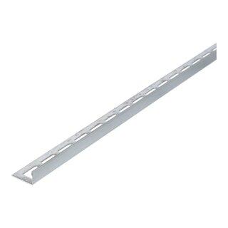 geb/ürstet Edelstahl Winkelprofil L/änge 2,50 m 12,5 mm H/öhe 10 St/ück Setpreis Fliesenprofil Fliesenschiene V2A